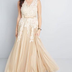 ModCloth Memorable Magic Maxi Wedding Dress Tea